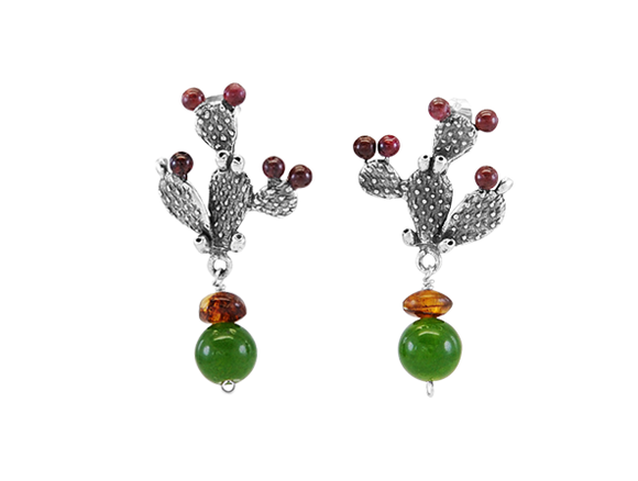 Cactus Earrings Large