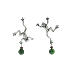 Jumping Frog Earrings