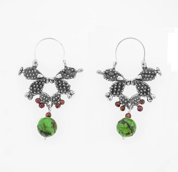 Cactus Hoop Earrings