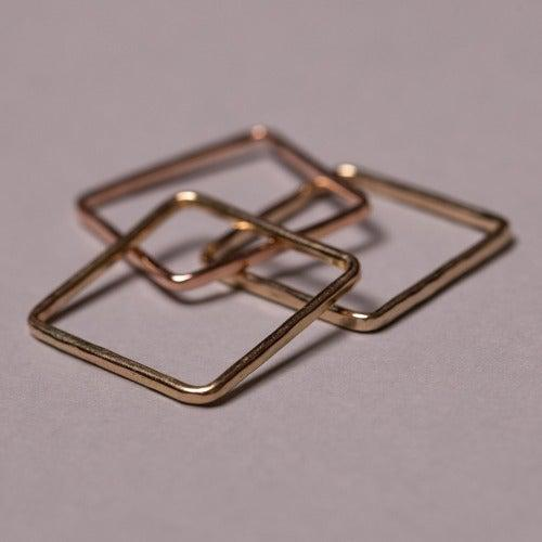 Mini Stackable Square Ring-Rings-Joyia Jewelry