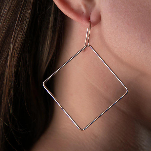Square Hoop Earrings - Joyia Jewelry