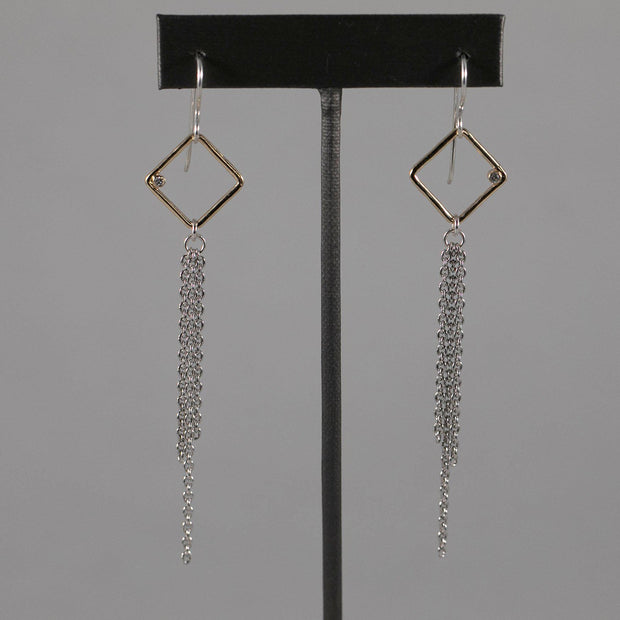 Diamante Dangle Earrings - Joyia Jewelry