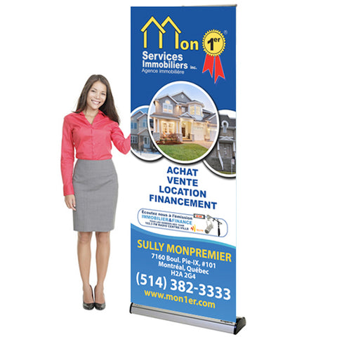 "Roll Up Banner 33.5"" x 79"""