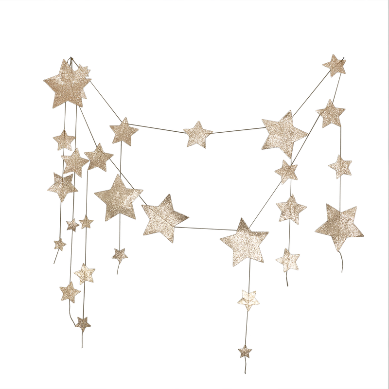 Numero 74 Girlande Falling Star gold
