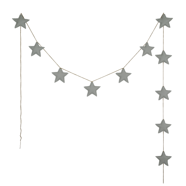 Numero 74 Girlande Mini Star silver grey