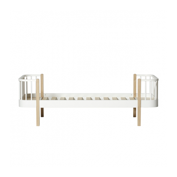 Oliver Furniture Wood Collection Einzelbett weiß/Eiche