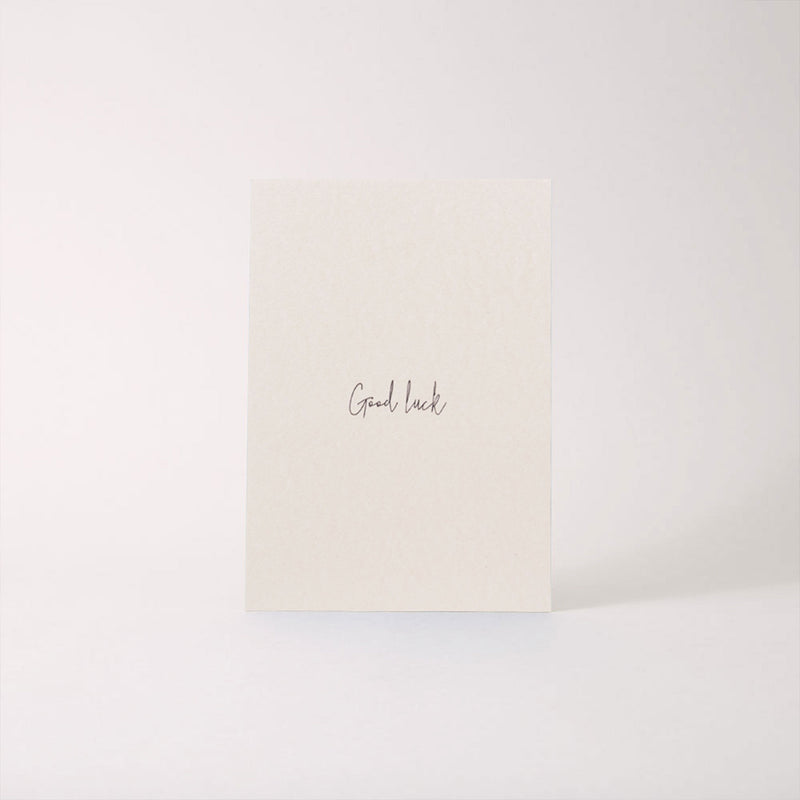 "Papier Ahoi Postkarte ""good luck"""
