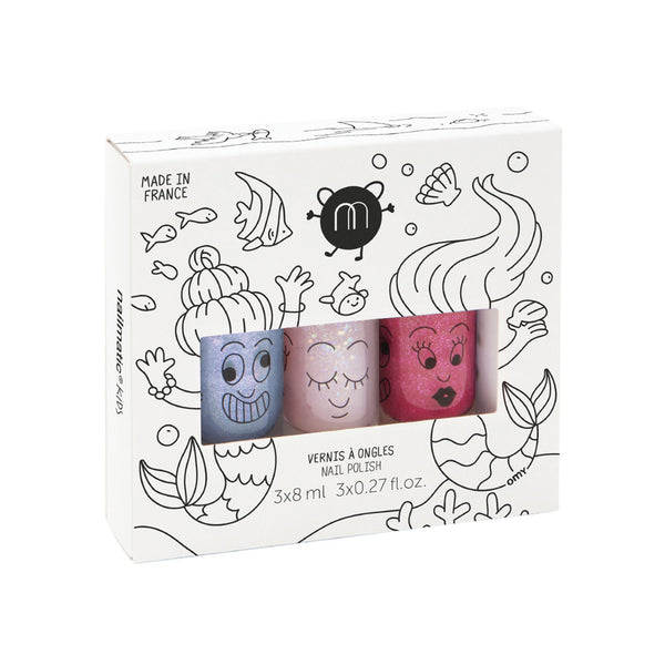 Kindernagellack 3er-Set Mermaid