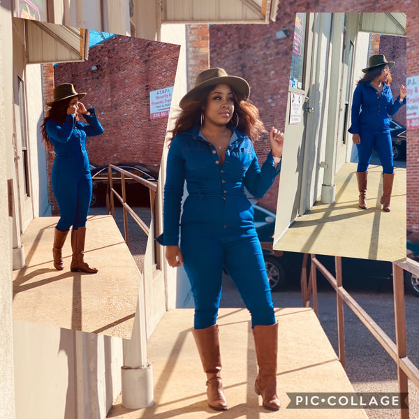 THE BLUES DENIM JUMPSUIT