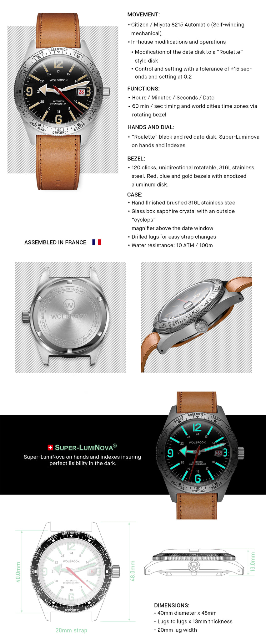 Skindiver WT Automatic Watch Specifications