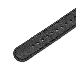 One-Piece Black Leather Band & Steel Buckle