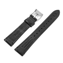 Load image into Gallery viewer, Two-Piece Black Leather Strap & Steel Buckle