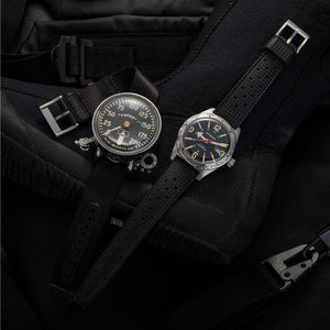 Black Tropic strap on tool-watch