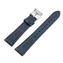 Load image into Gallery viewer, Two-Piece Blue Leather Strap & Steel Buckle