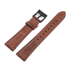 Load image into Gallery viewer, Two-Piece Brown Leather Strap & Black PVD Buckle