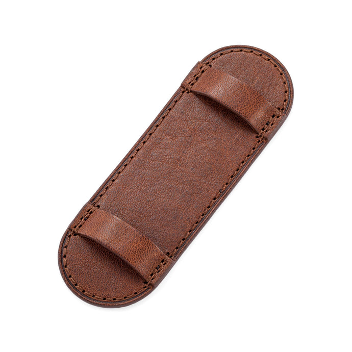Brown Leather Pilot Plate for Bund Strap