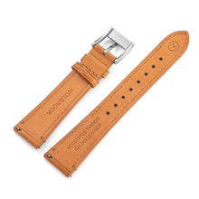 Load image into Gallery viewer, Two-Piece Camel Leather Strap & Steel Buckle