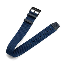 Load image into Gallery viewer, One-Piece Blue Nylon Strap & Black PVD Buckle
