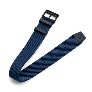 One-Piece Blue Nylon Strap & Black PVD Buckle