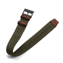 Load image into Gallery viewer, One-Piece Green Nylon Strap & Black PVD Buckle