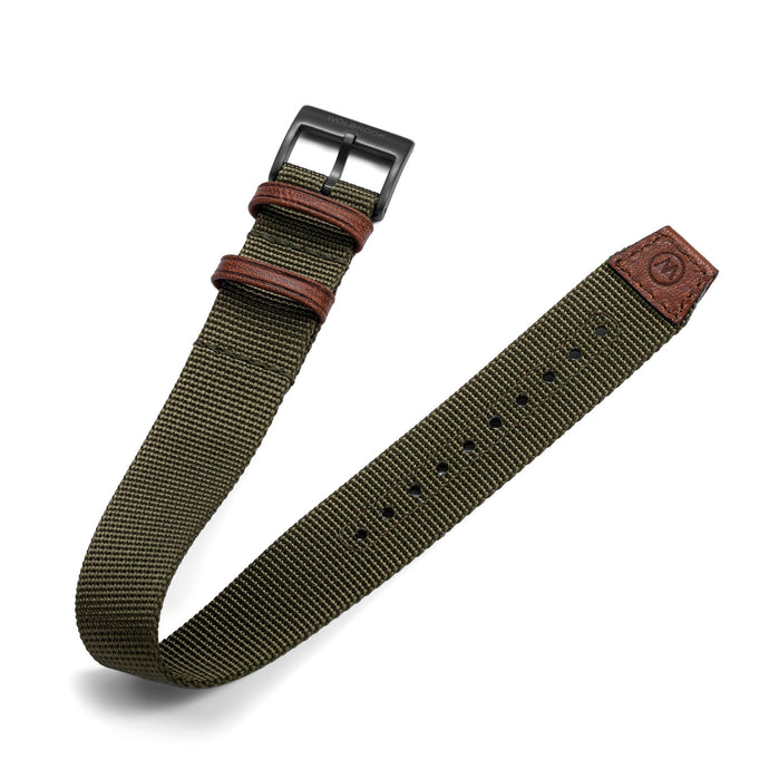 One-Piece Green Nylon Strap & Black PVD Buckle