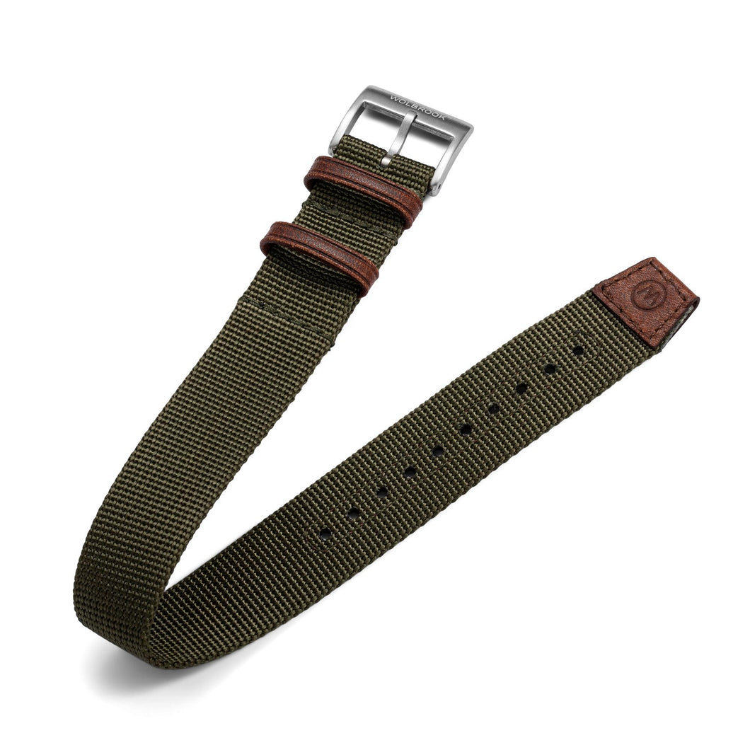 One-Piece Green Nylon Strap & Steel Buckle