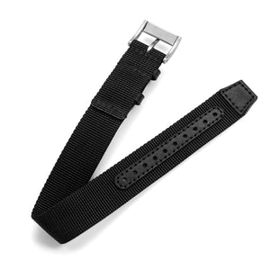 One-Piece Black Nylon Strap & Steel Buckle