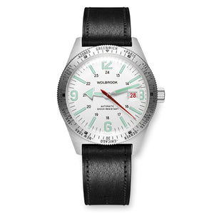 Skindiver WT Automatic - Green Super-LumiNova on White dial & Steel