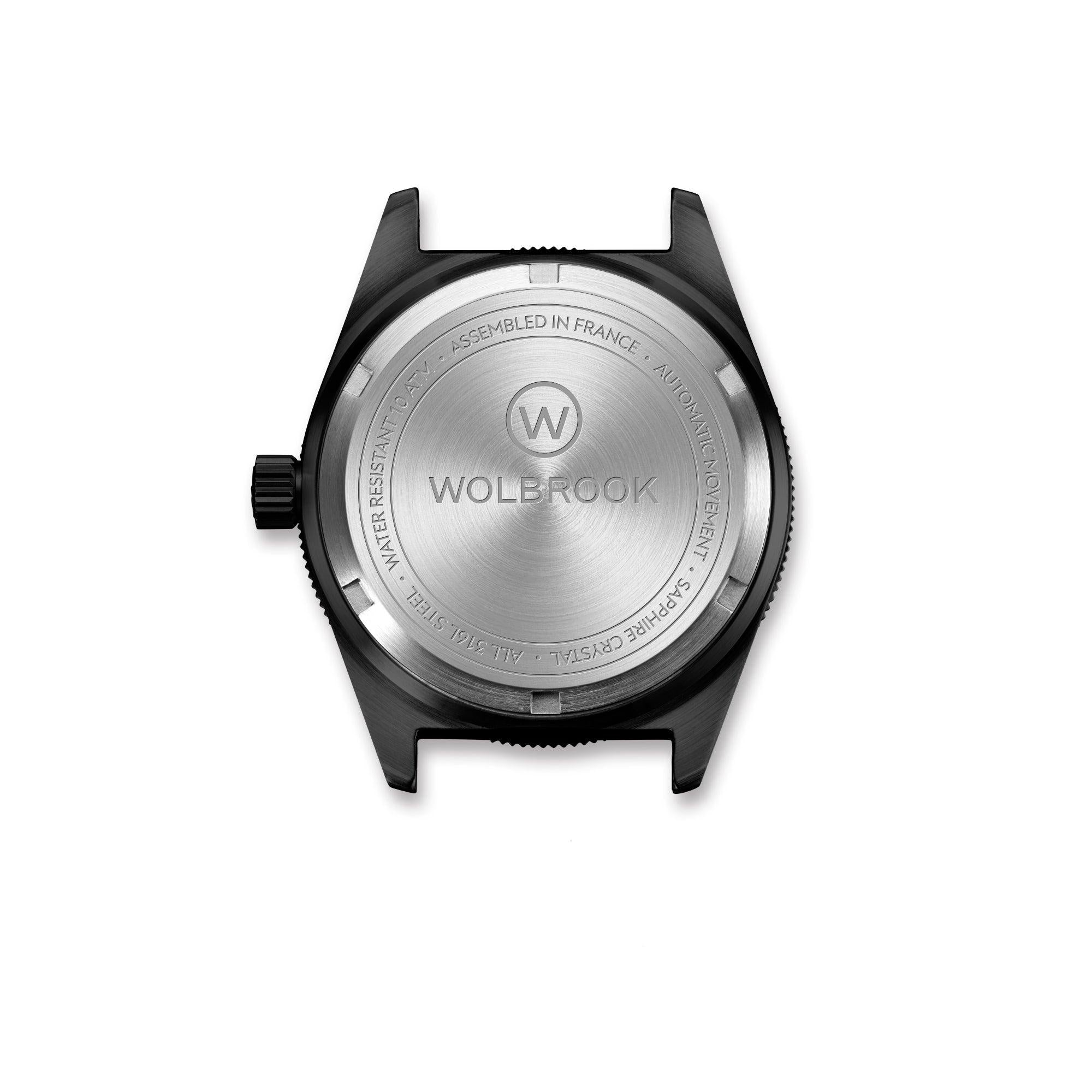 Skindiver WT Automatic-watch screw-down case-back Black PVD