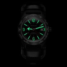 Load image into Gallery viewer, Skindiver WT Professional Tool-Watch with Black Dial and Green C7 Super-LumiNova on