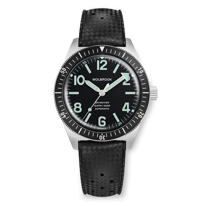 Skindiver Automatic Watch - Green Lum & Black Dial