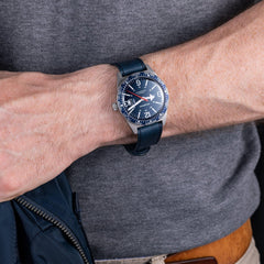 Blue Skindiver WT Automatic on wrist.