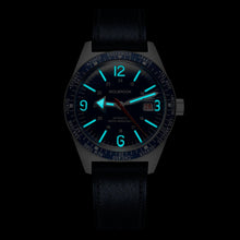 Load image into Gallery viewer, Skindiver WT Automatic Blue dial with white Super-LumiNova BGW9 and Blue Aluminum Bezel