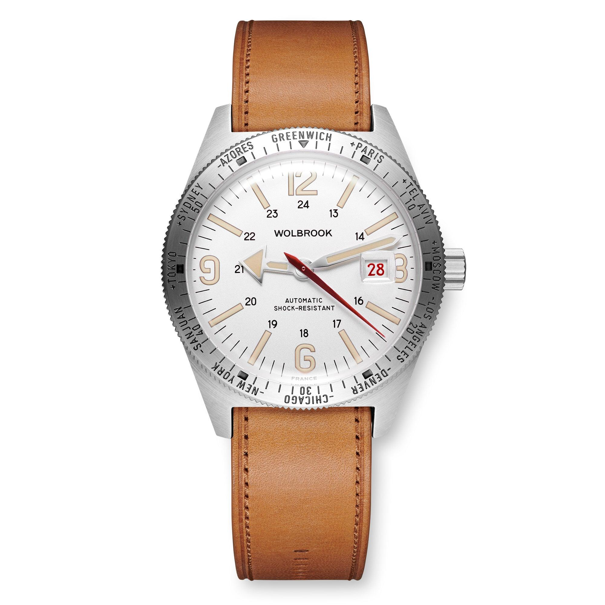 Skindiver WT Automatic Watch, White dial with Vintage Super-LumiNova and Steel Bezel
