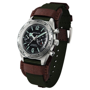 Skindiver WT Professional Chrono-Mecaquartz Black & Steel Big Eye Chronograph