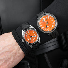 Skindiver Professional Tool-Watch - Orange Dial