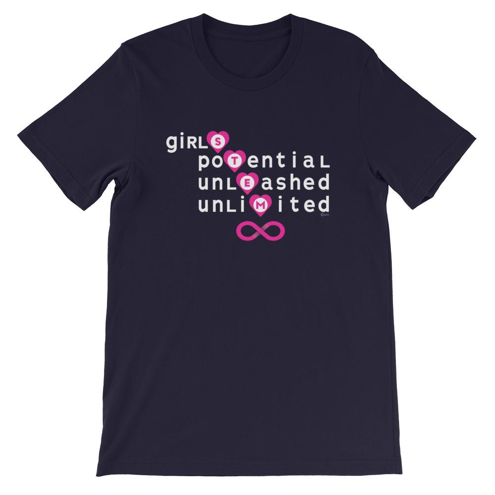 Adult size Girls Unlimited Potential STEM T-Shirt