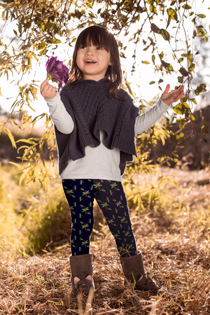 STEM and Flowers dragonfly leggings