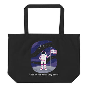 Girls on the moon tote bag NASA