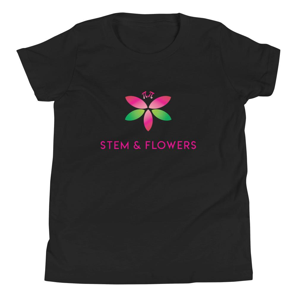 STEM and Flowers logo t-shirt