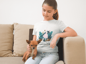 Girl wearing Veterinarian, Dancer, Princess STEM T-Shirt