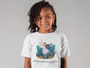 STEM girl wearing tech t-shirt
