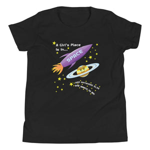 A girl's place is in space tee