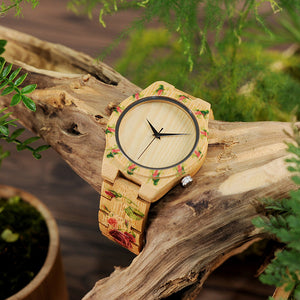 Bamboo Wood Men Luxury Watch With