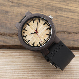 C23 Natural Bamboo Ebony Wood Watch Men