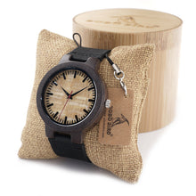 Load image into Gallery viewer, C23 Natural Bamboo Ebony Wood Watch Men