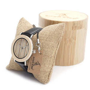 E21 Bamboo Wood Men Watches With Mental