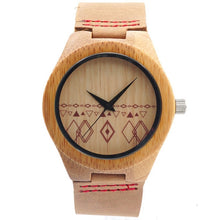 Load image into Gallery viewer, Handmade Bamboo Wooden Watch Japanese