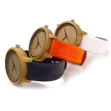 Load image into Gallery viewer, Men Design Bamboo Wood Quartz Watch