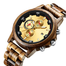 Load image into Gallery viewer, Hot Selling Bamboo Brand Chronograph Men Wood Sport Watch